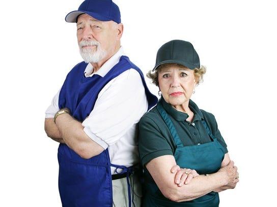 Older Couple Still Working