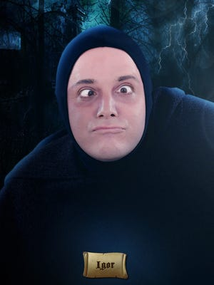 "Brad York as Igor in the Arizona Broadway Theatre production of ""Young Frankenstein,"" running May 23 through June 22."