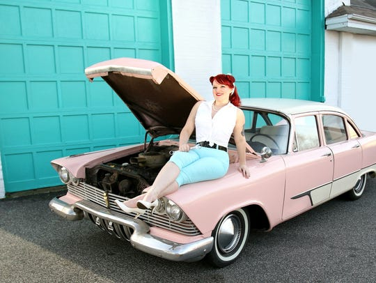 "Macey Holyak and her pink ride, ""Patsy,"" have become"