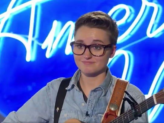 Local American Idol contestant Maddie Todd reacts to