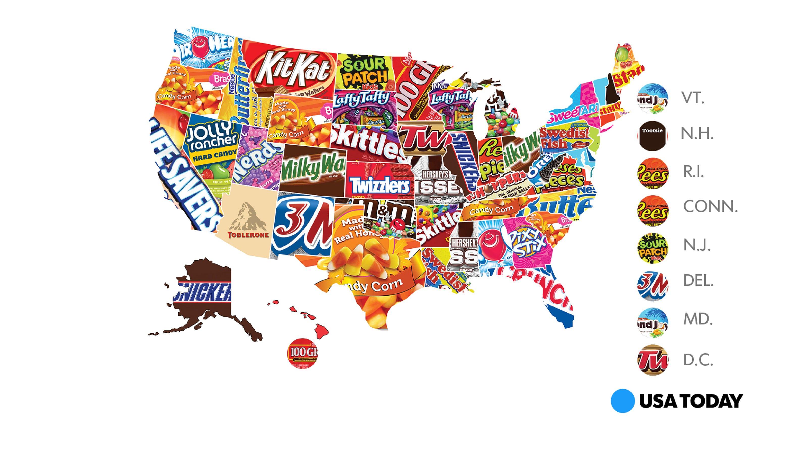 here's the most popular halloween treatstate