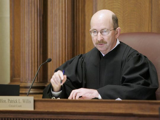Judge Patrick L. Willis conducts a motions hearing for Steven A. Avery in the Branch 2 court room on Jan. 19, 2007 at the Manitowoc County Court House in Manitowoc.