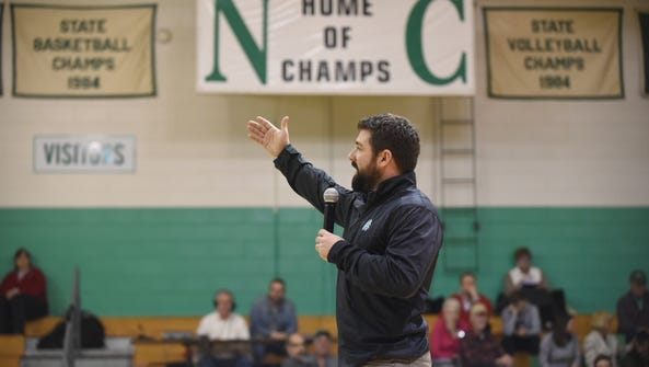 Ryan Aiello is Newark Catholic's new football coach.