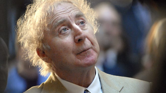 """FILE - In this April 9, 2008 file photo, actor Gene Wilder listens as he is introduced to receive the Governor's Awards for Excellence in Culture and Tourism at the Legislative Office Building in Hartford, Conn. Wilder, who starred in such film classics as """"Willy Wonka and the Chocolate Factory"""" and """"Young Frankenstein"""" has died. He was 83. (AP Photo/Jessica Hill, File)"""