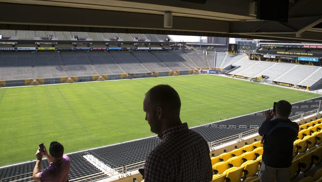 The view from the Coach's Club loge box, June 23, 2017, during a media tour of ASU's New West Side Club at Sun Devil Stadium, 500 E. Veterans Way, Tempe.