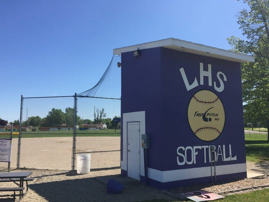 Lakeview High School softball field.