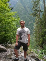 Jonathan Olsen-Devenny on a hike in the Olympic National