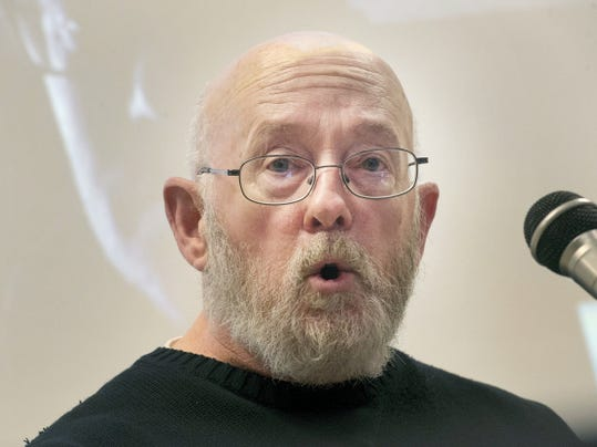 David Hamilton, 63, of York, practices his comedy routine March 30 before the Stand Up For Mental Health Comedy Show slated for April 10 at York College of Pennsylvania.