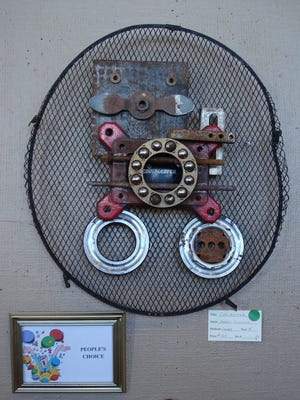 """Marci Coulson's """"Coolmaster,"""" was selected as the People's Choice winner at the fifth annual Recycled Art Show at the Deming Art Center."""