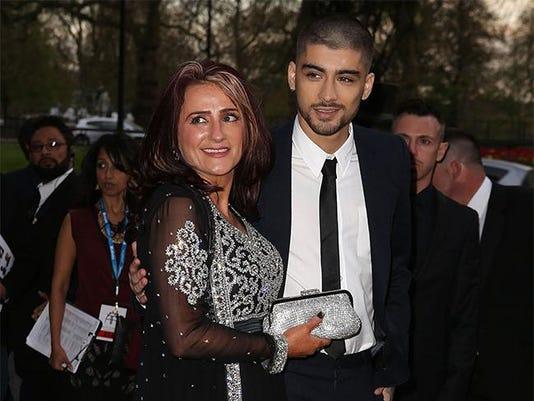 Zayn Malik with mother Trisha
