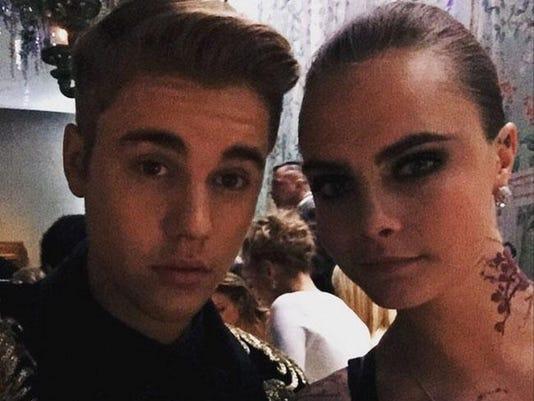 Justin Bieber and Cara Delevingne