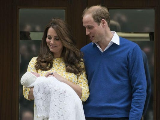 William with Kate and Charlotte
