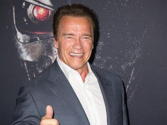 Schwarzenegger at Terminator Genisys screening