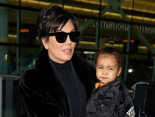 Kris Jenner with North West