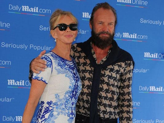 Sting with Trudie Styler