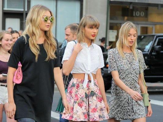 Gigi Hadid, Taylor Swift and Martha Hunt