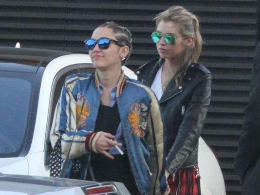 Miley Cyrus and Stella Maxwell