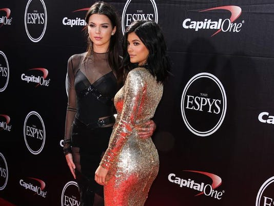 Kendall Jenner with sister Kylie at the ESPYS