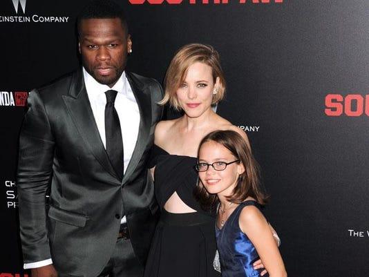 50 Cent with Rachel McAdams