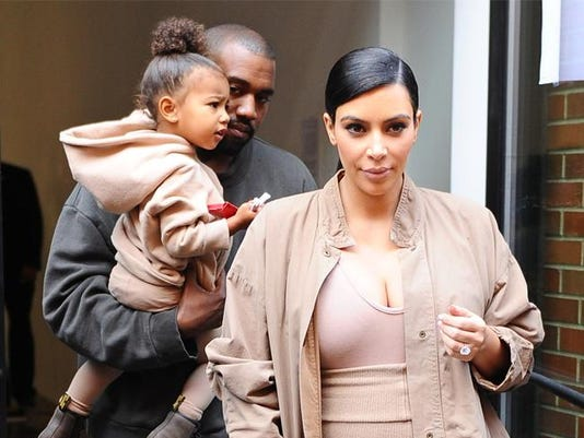 Kanye, North and Kim
