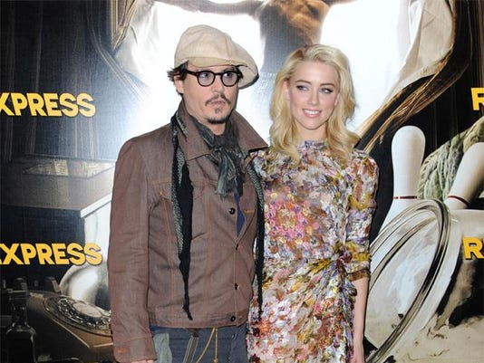 Johnny Deep and Amber Heard