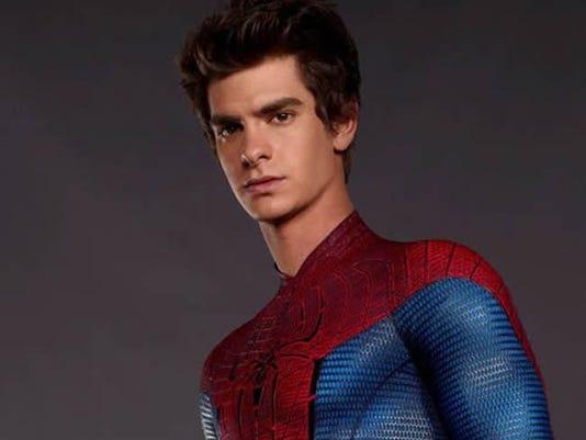 Andrew Garfield in his Spider-Man suit