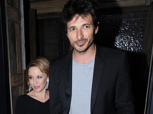 Kylie Minogue with Andres Velencoso
