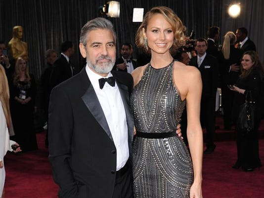 George Clooney and ex-girlfriend Stacy Keibler