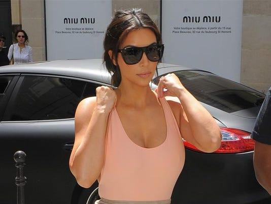 Kim Kardashian in Paris ahead of her wedding