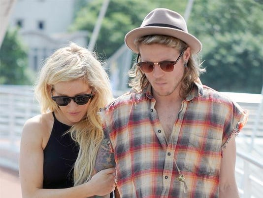Dougie Poynter with Ellie Goulding