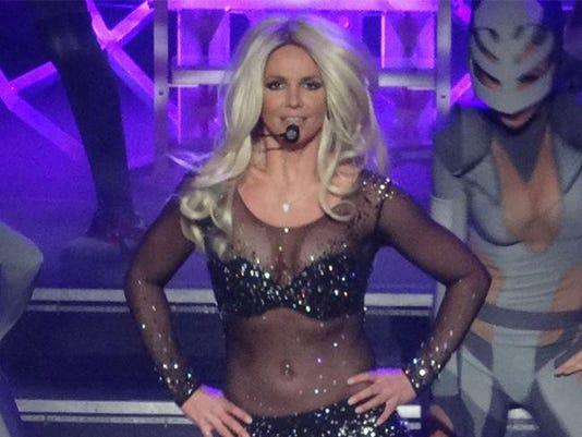 Britney Spears on stage in Las Vegas