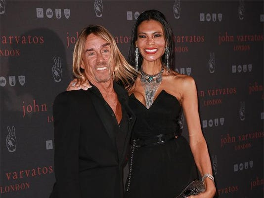 Iggy Pop and wife Nina Alu