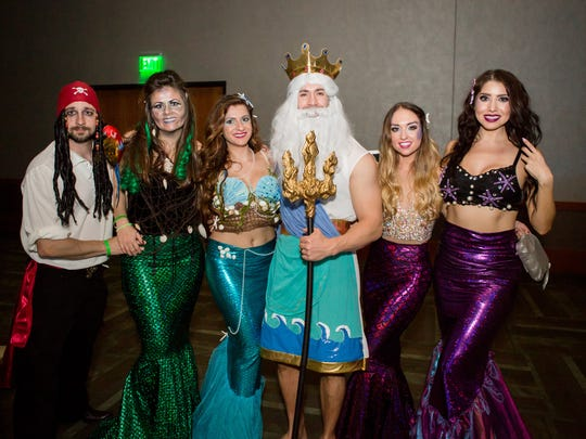 These mermaids looked stunning at Wicked Ball at Talking Stick Resort in Scottsdale on Saturday, Oct. 29, 2016.