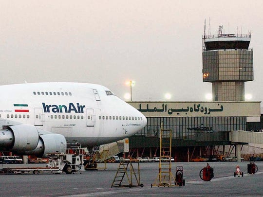 In this June 2003 file photo, a Boeing 747 of Iran's