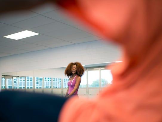 Dance instructor N'Talia Wilson teaches a class Oct.