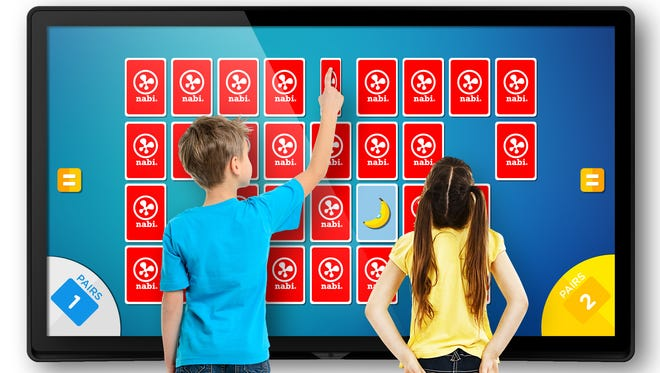 Nabi tablet maker Fuhu  has new 65-inch touch-screen displays that serve as a household centerpiece.