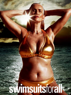 Nicola Griffin, 56, will appear in an ad for swim retailer Swimsuitsforall, in the newest Sports Illustrated issue.