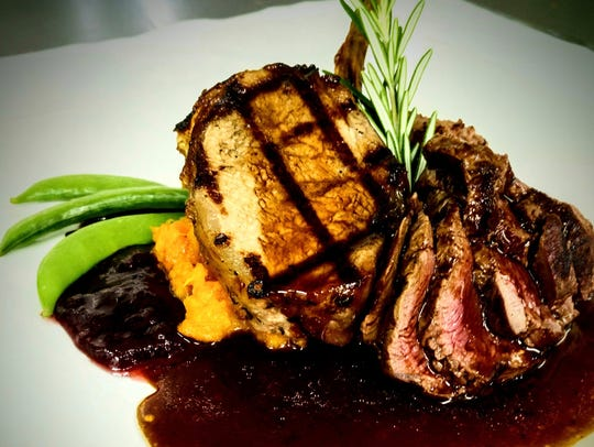 A game plate of wild boar and venison will be offered