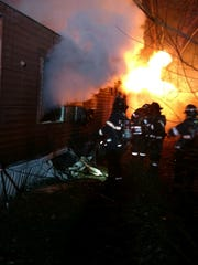 The trailer fire in the Town of Poughkeepsie.