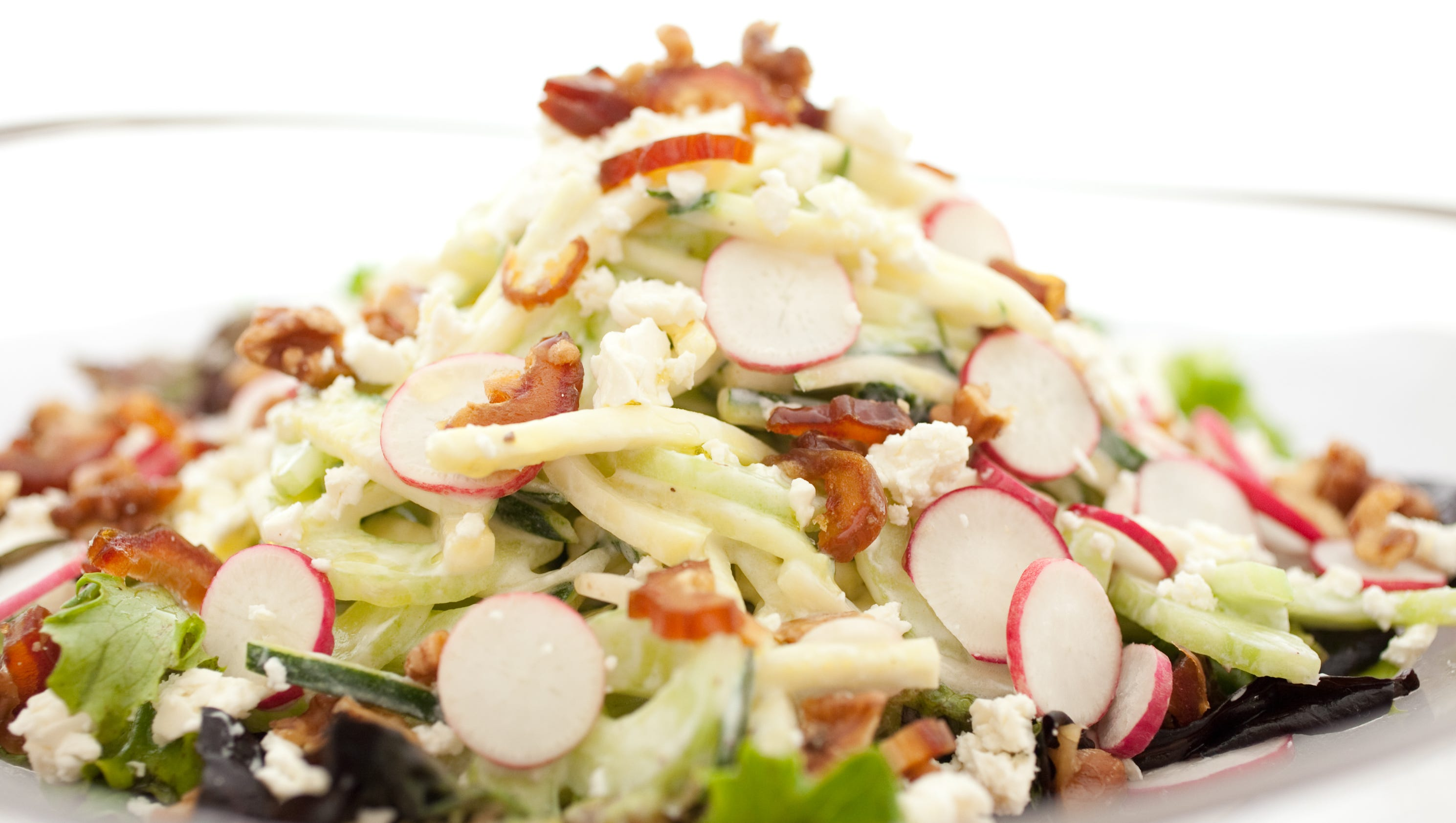 Zucchini and Cucumber Salad With Dates and Yogurt Dressing