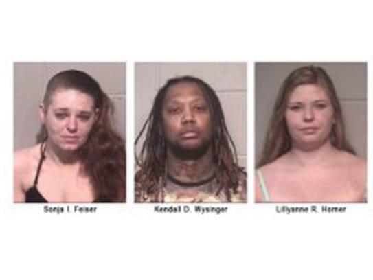 From left, Sonja I. Feiser, Kendall D. Wysinger, and