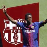 Dembélé debuta con el Barcelona