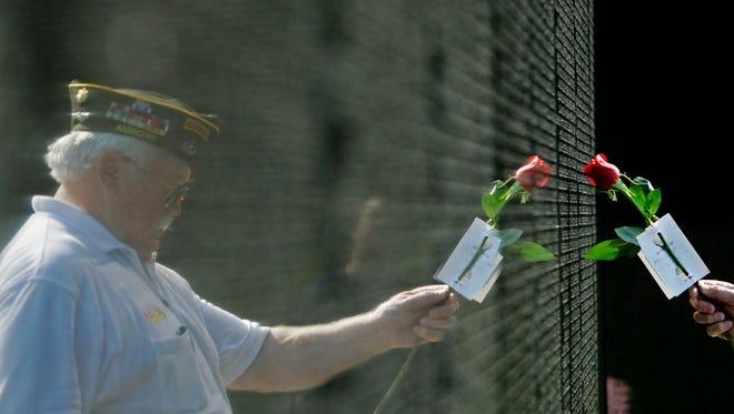 The Vietnam Veterans Memorial Wall is among memorials veterans on Honor Flights visit during their trips to Washington, D.C.