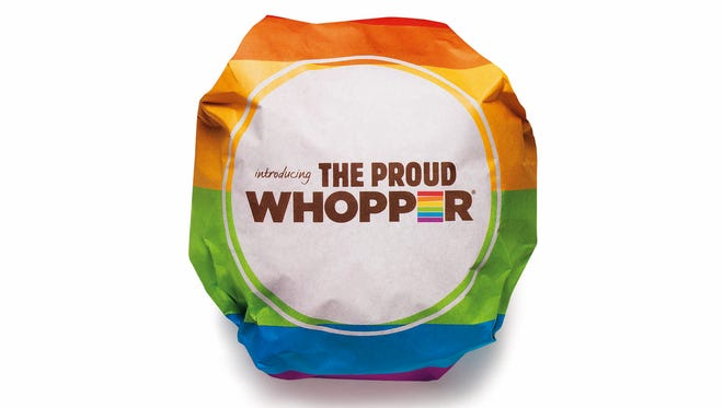 Burger King's Proud Whopper comes in rainbow colored wrapper.