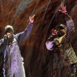 Andre 3000, left, and Big Boi of <137,2014/04/16,Bailey/c Phyllis1>hip hop group<137> Outkast performed on the first day of the 2014 Coachella Music and Arts Festival on Friday.<137>, April 11, 2014, in Indio, Calif<137><137> (Photo by Chris Pizzello/Invision/AP)<137>