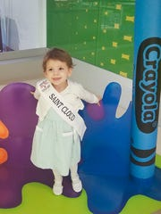 Lydia Mohs, 2, is pictured at Crayola Experience at