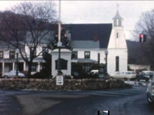 John Suffern house and church, 1960