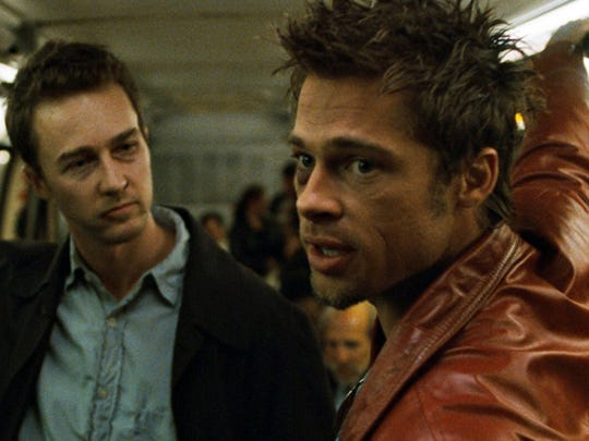 Brad Pitt and Edward Norton in 'Fight Club'.