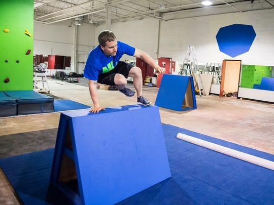Ninja Logic coach and consultant Chad Riddle jumps
