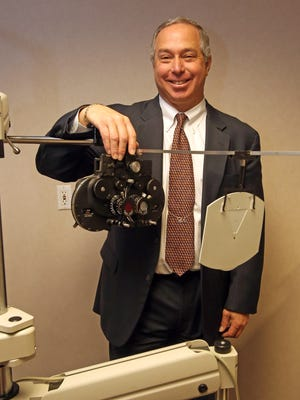 Dr. Paul Bernstein, an optometrist, in his office in White Plains.